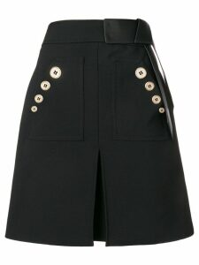 Elisabetta Franchi contrast buttons skirt - Black