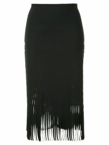 Dion Lee fringed skirt - Black