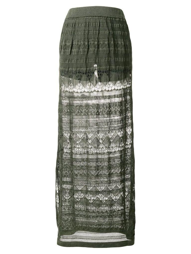 Roberto Collina knitted maxi skirt - Green