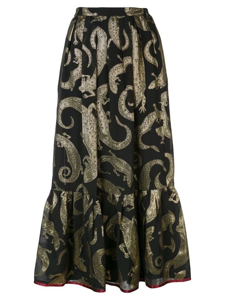 Gucci lizard jacquard skirt - Black