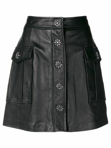 Michael Michael Kors embellished lamb skin skirt - Black