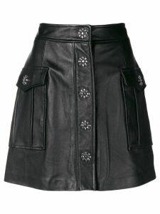 Michael Michael Kors embellished lamb skin skirt - Black