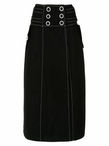 Framed Explorer midi skirt - Black