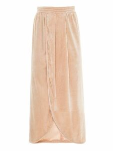 Framed velvet Tube midi skirt - NEUTRALS