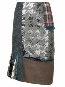Kolor patchwork skirt - Grey