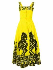 Yuliya Magdych Herd skirt and top set - Yellow