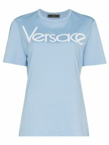 Versace appliqué logo T-shirt - Blue