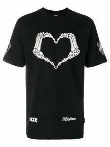 KTZ Heart skeleton T-shirt - Black