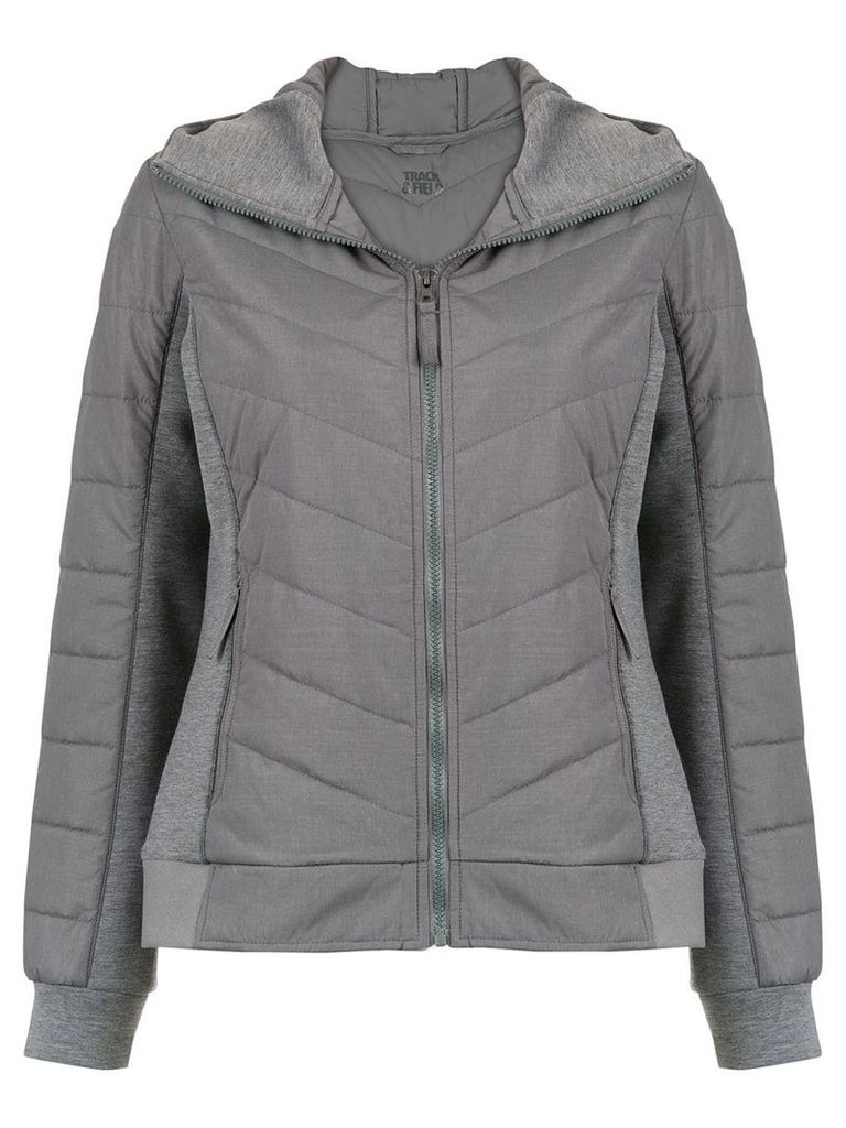 Track & Field quilted effect jacket - Grey