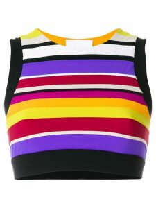 No Ka' Oi striped cropped top - Multicolour