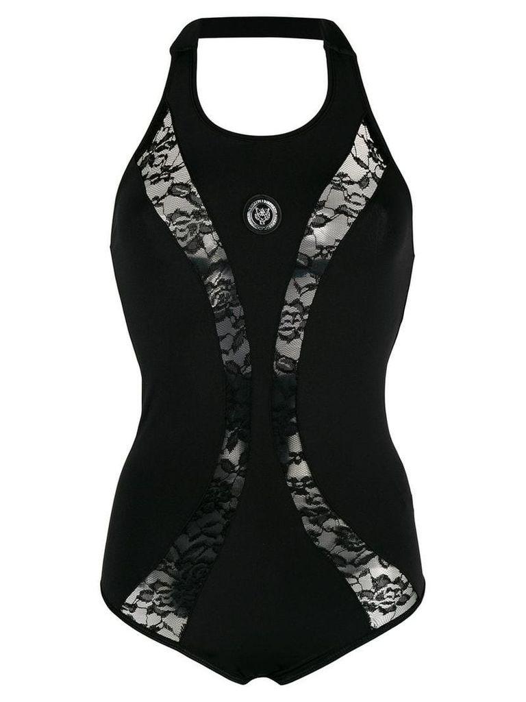 Plein Sport lace fitted bodysuit - Black