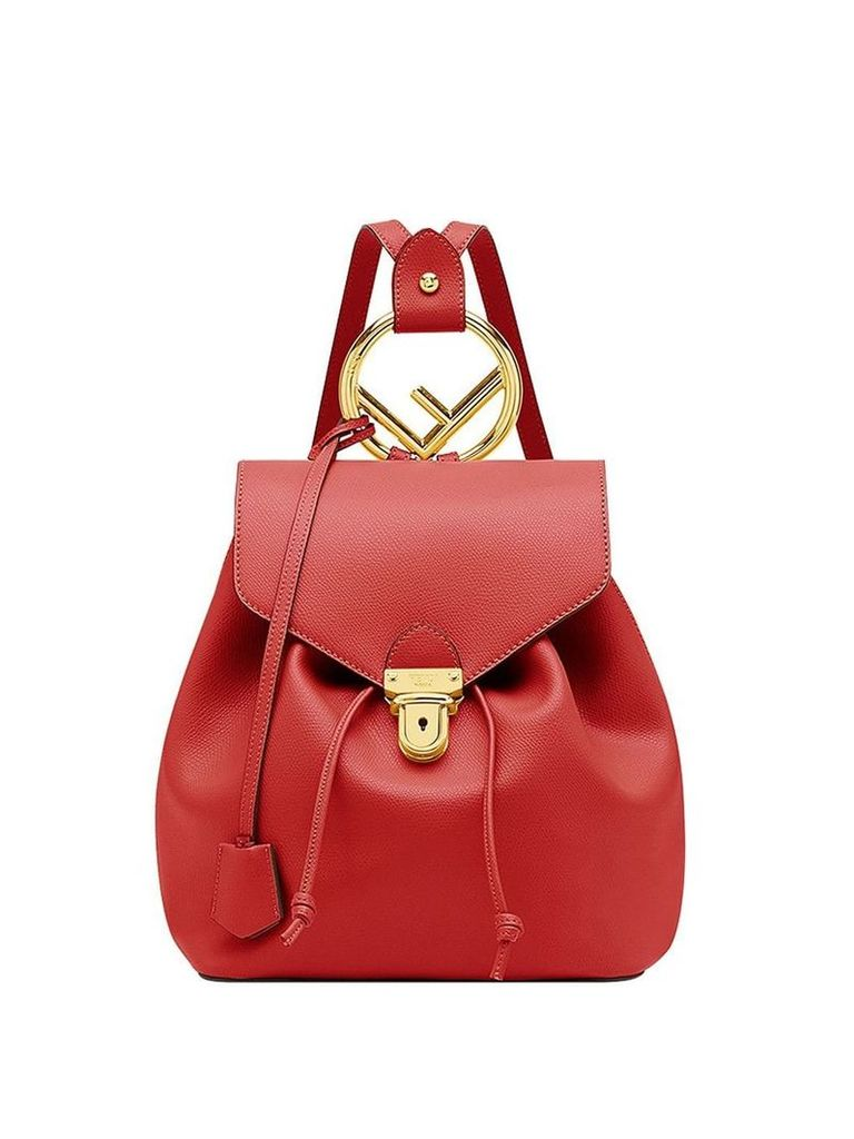 Fendi classic logo backpack - Red