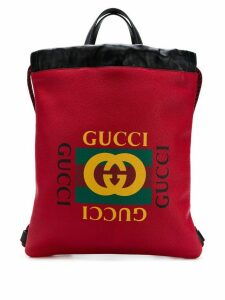 Gucci printed backpack - Red