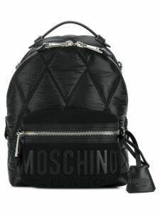 Moschino front logo mini backpack - Black