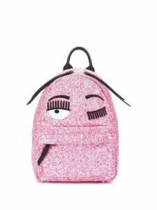 Chiara Ferragni Flirting glitter backpack - Pink