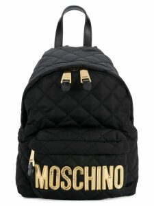 Moschino medium quilted backpack - Black