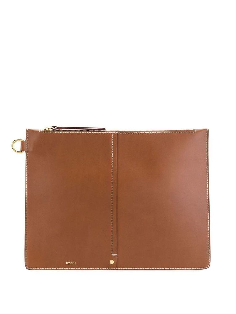 Joseph XL zip pouch bag - Brown