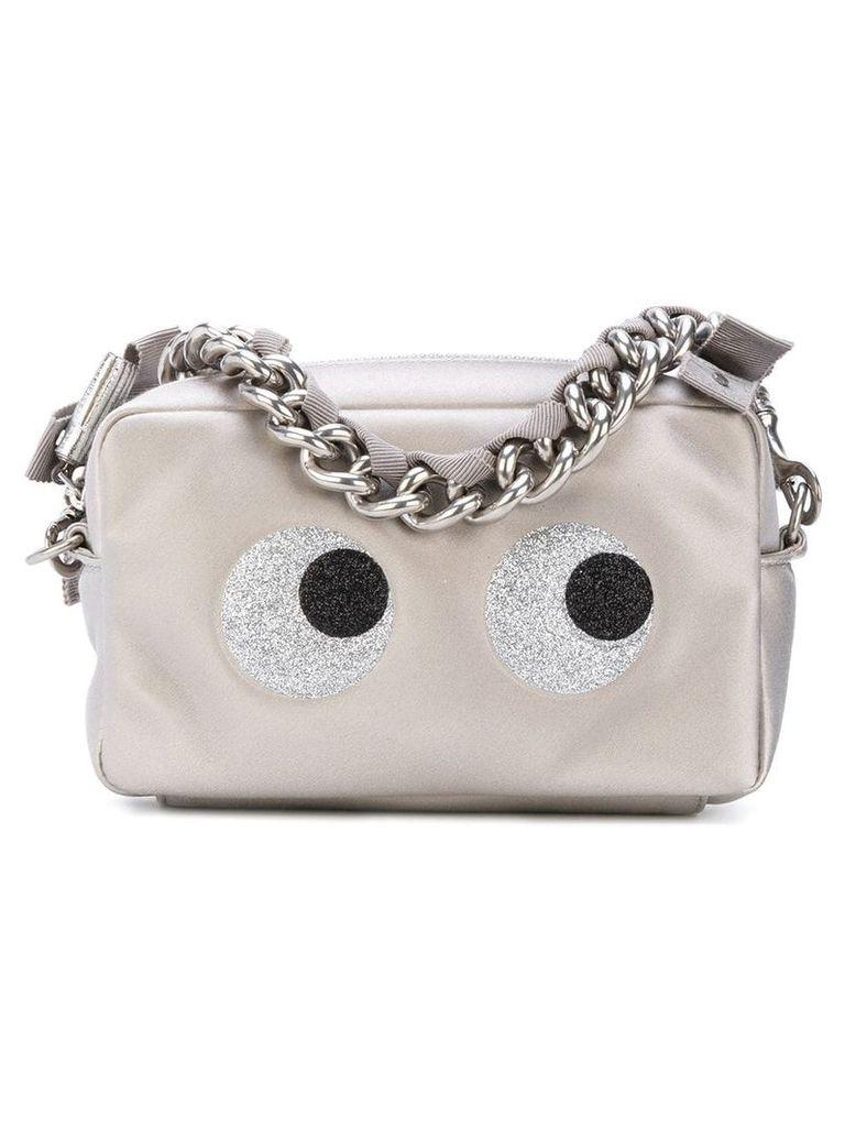 Anya Hindmarch eyes motif zipped clutch - Metallic