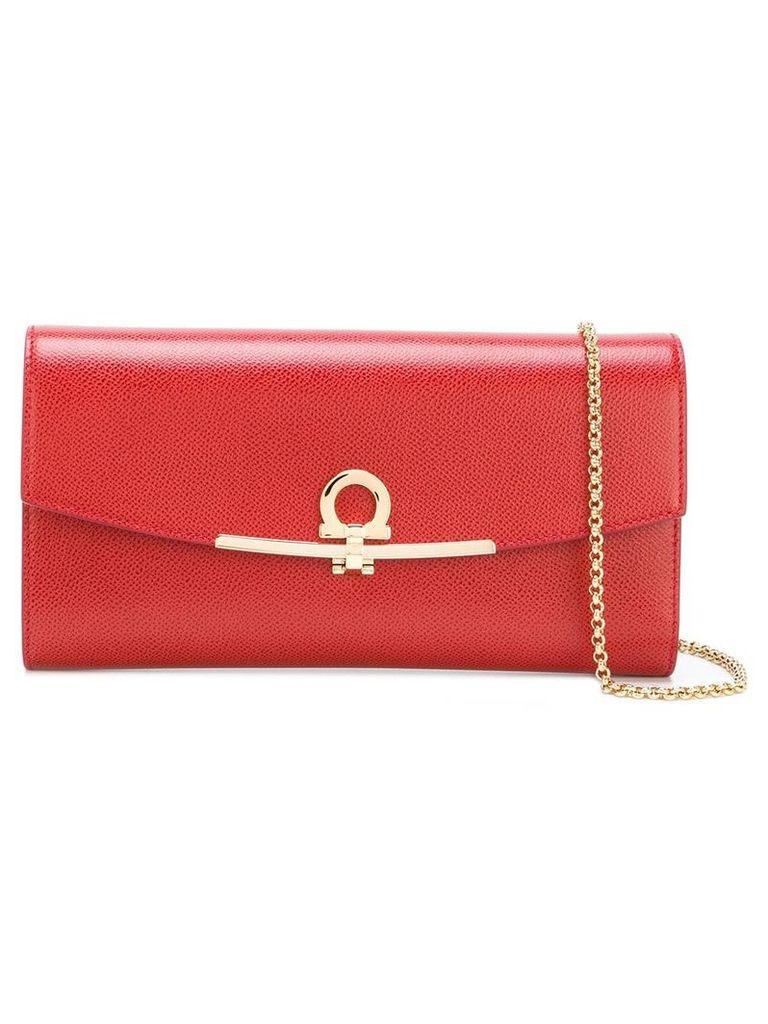 Salvatore Ferragamo Gancio clutch bag - Red