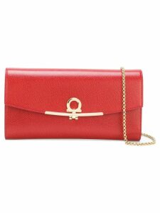 Salvatore Ferragamo Gancio clutch bag - Red