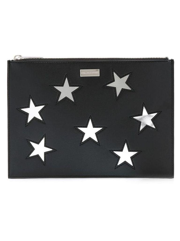 Stella McCartney embroidered Stars clutch bag - Black