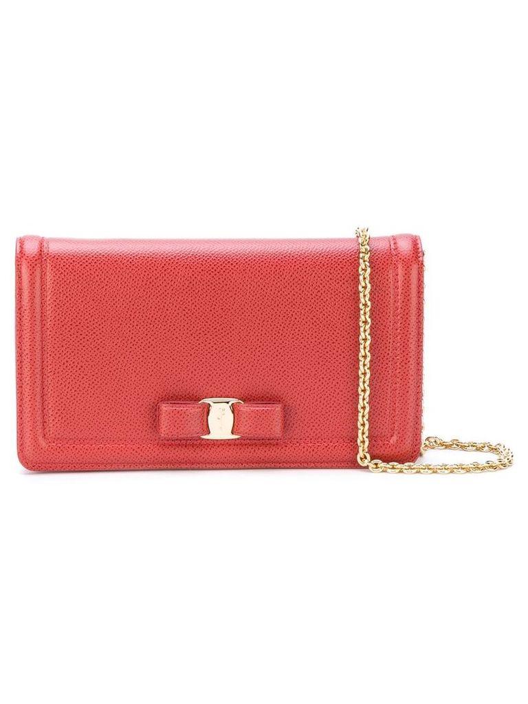 Salvatore Ferragamo Vara clutch bag - Red