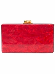 Edie Parker marbled effect clutch - Red