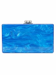 Edie Parker marbled effect clutch - Blue