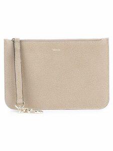 Valextra zipped pouch - Neutrals