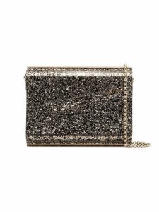 Jimmy Choo metallic Candy glitter envelope clutch