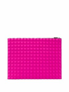 No Ka' Oi chocolate bar quilted clutch - Pink