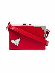 Calvin Klein 205W39nyc red mini leather box clutch