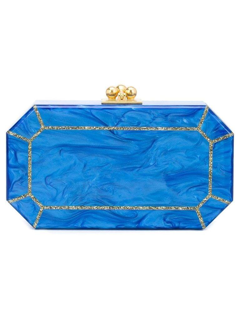 Edie Parker The Webster x Ritz Paris clutch - Blue
