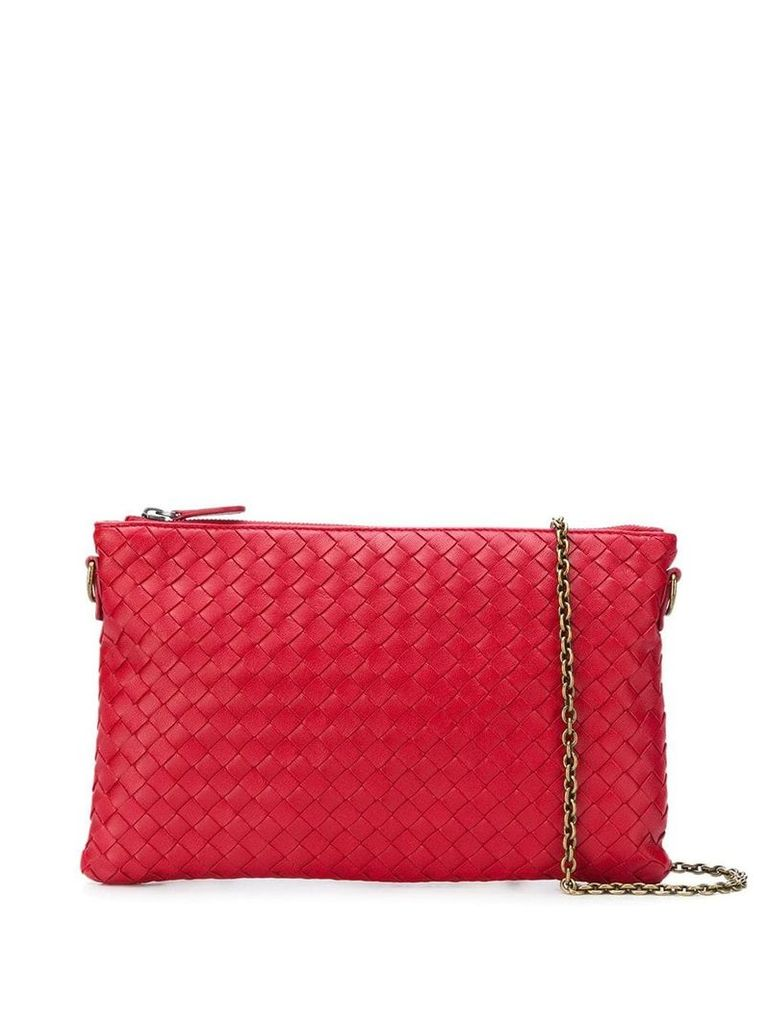 Bottega Veneta woven crossbody bag - Red