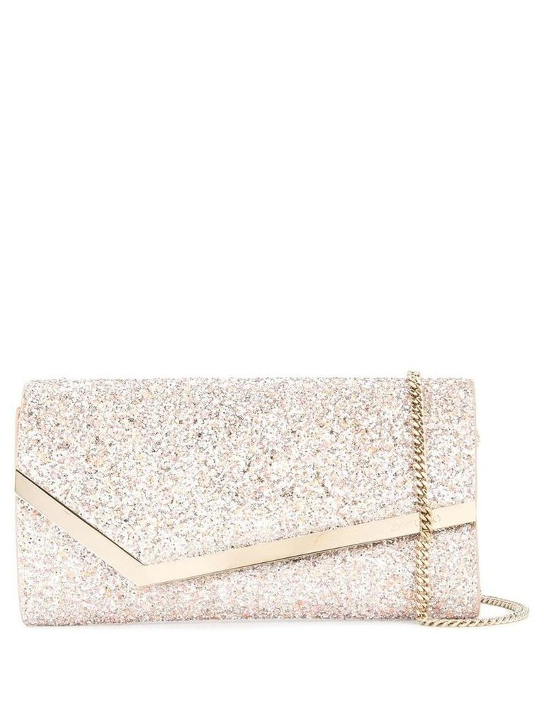 Jimmy Choo Emmie glitttered clutch - Pink