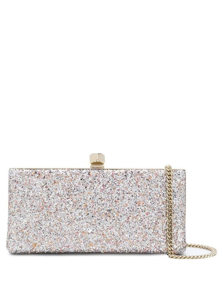 Jimmy Choo Celeste glittered clutch - Pink