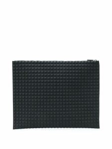 No Ka' Oi chocolate bar quilted clutch - Black