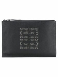Givenchy embellished logo clutch bag - Black