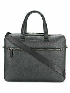 Salvatore Ferragamo textured laptop bag - Grey