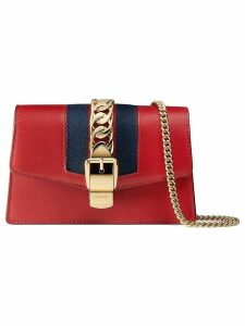 Gucci Sylvie leather mini chain bag - Red