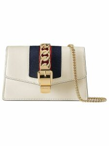 Gucci Sylvie leather mini chain bag - White