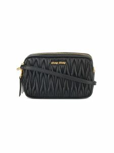 Miu Miu small quilted bag with strap - Black