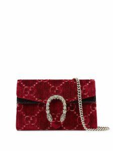 Gucci Dionysus GG velvet super mini bag - Red
