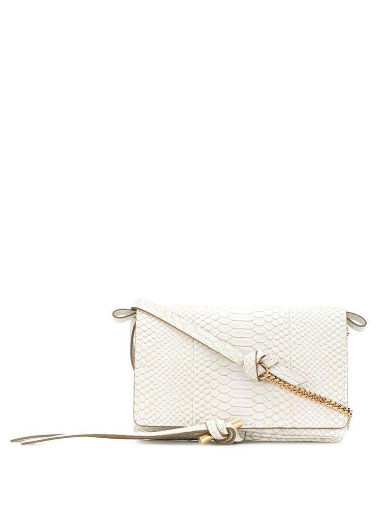 Stella McCartney knot pendant bag - White