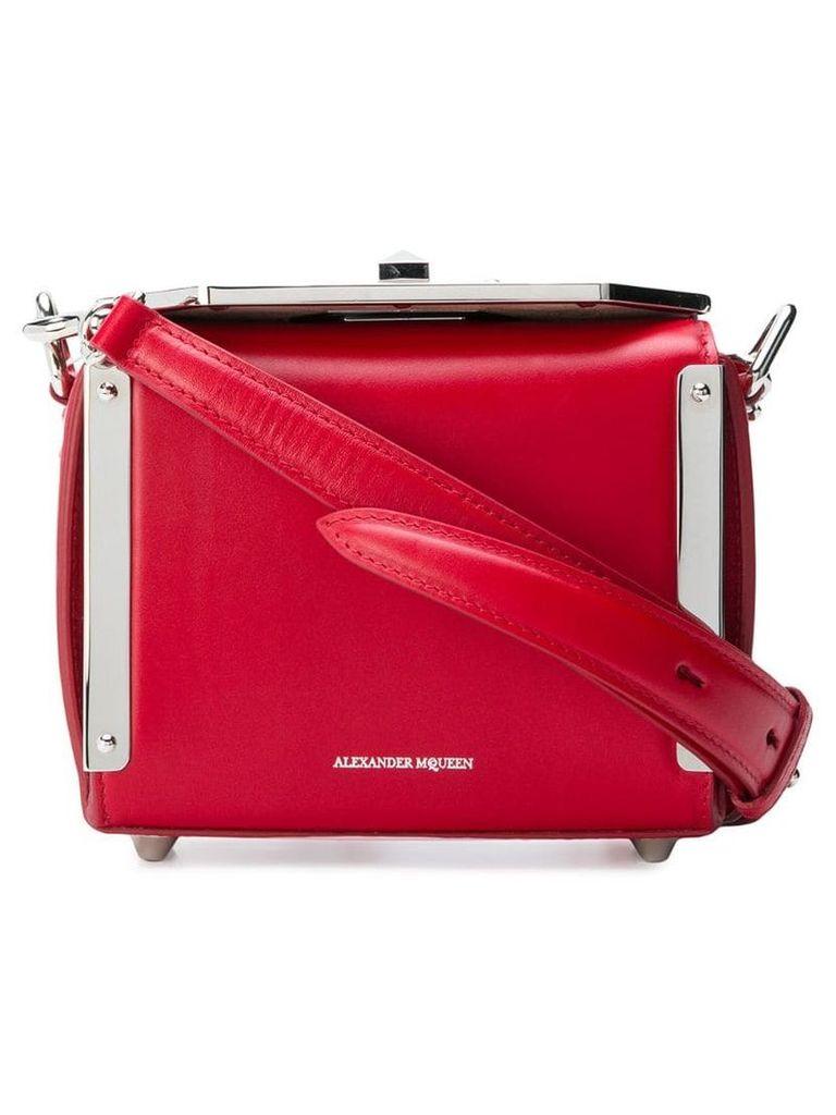 Alexander McQueen nano Box Bag - Red