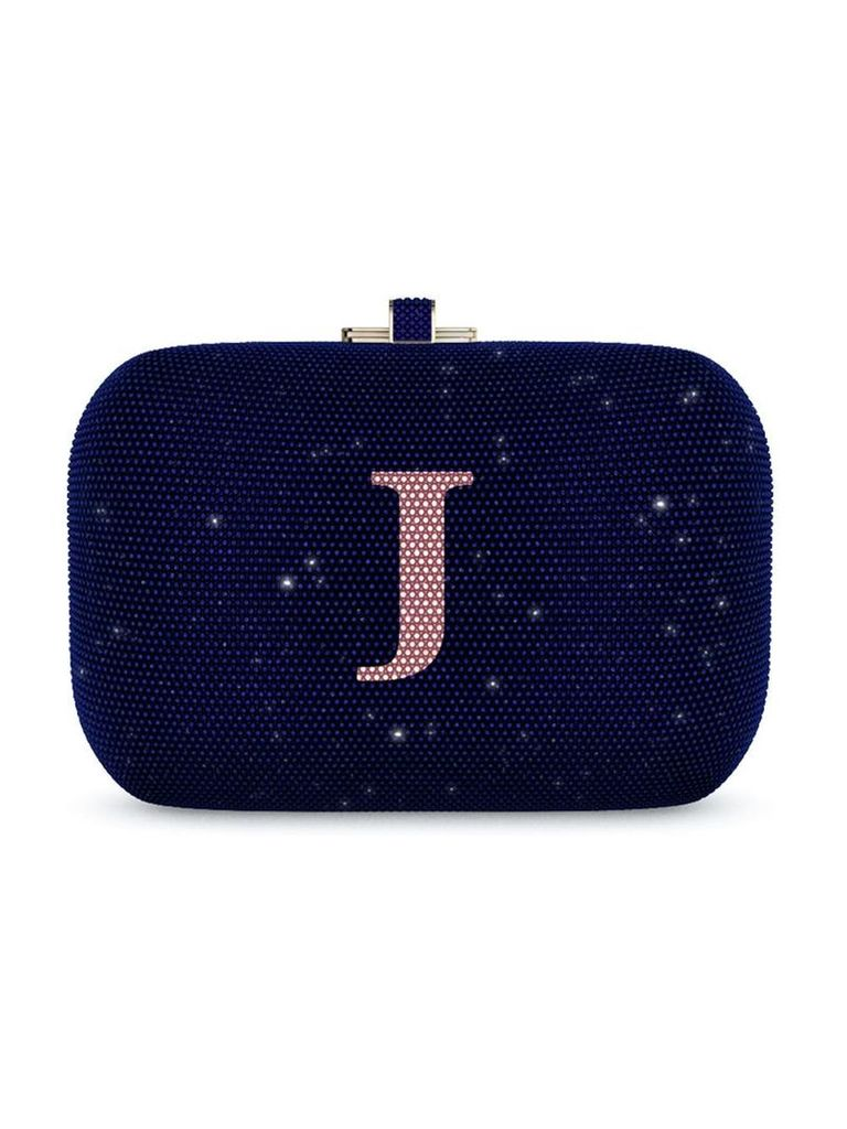 Judith Leiber Couture Slide Lock Customizable Monogram bag - Blue