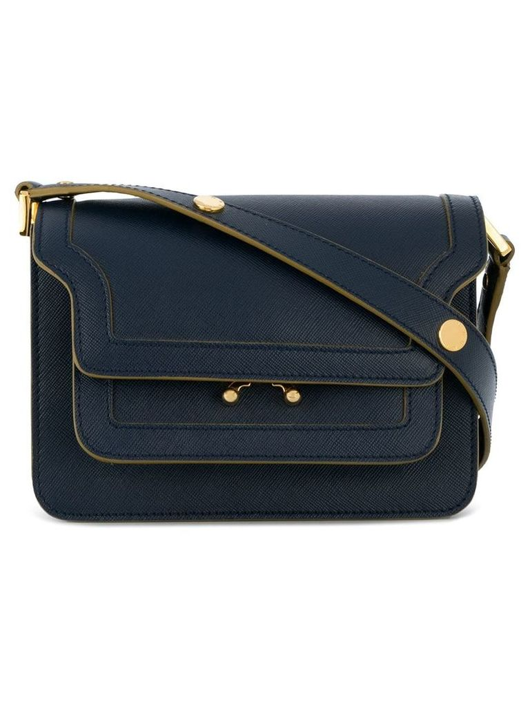 Marni mini Trunk shoulder bag - Blue