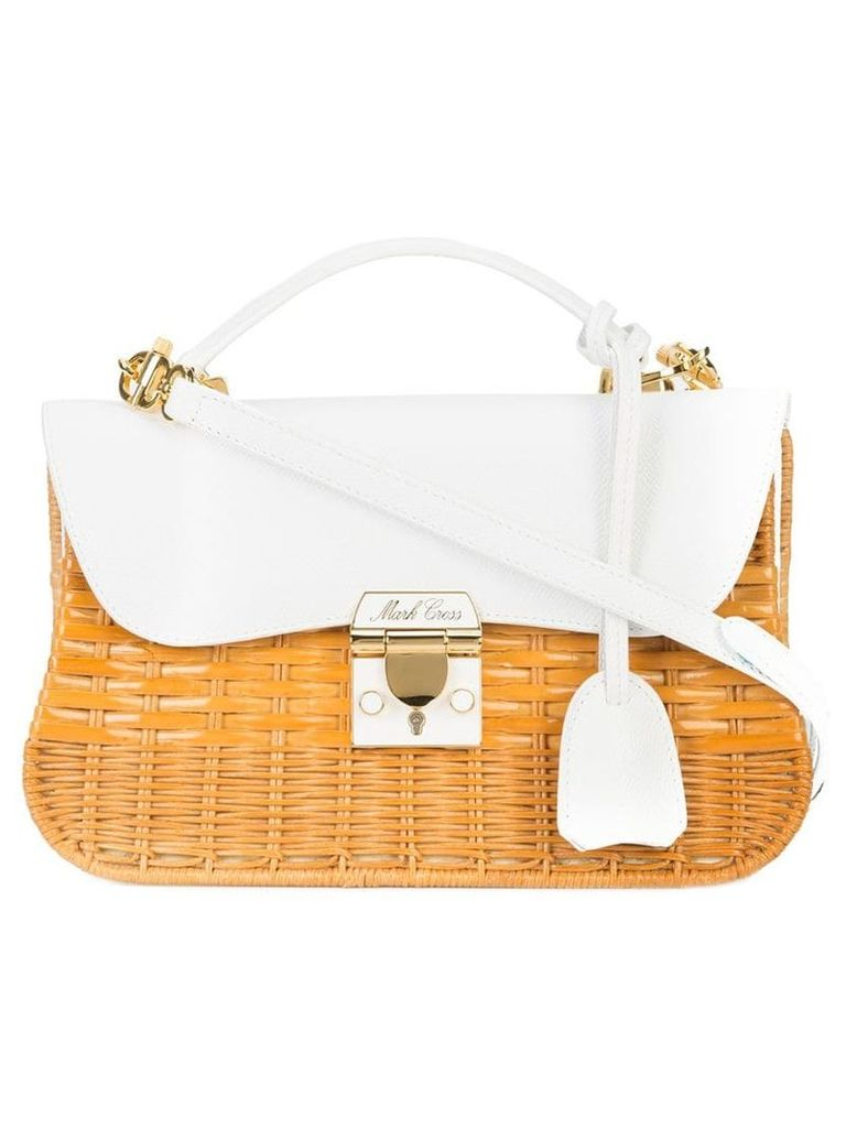 Mark Cross structured straw bag - Brown
