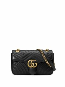 Gucci black GG Marmont small matelassé leather shoulder bag