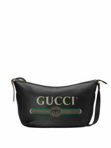 Gucci Gucci Print half-moon hobo bag - Black